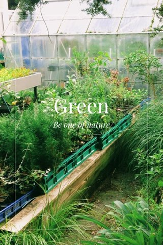Green /Be one of nature/