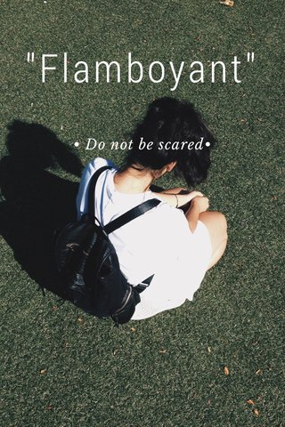 """Flamboyant"" • Do not be scared•"