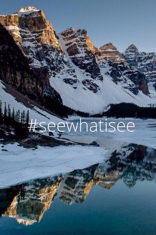 #seewhatisee