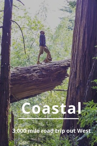 Coastal 3,000 mile road trip out West