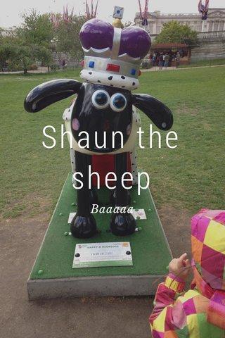 Shaun the sheep Baaaaa