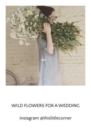 WILD FLOWERS FOR A WEDDING Instagram @thislittlecorner