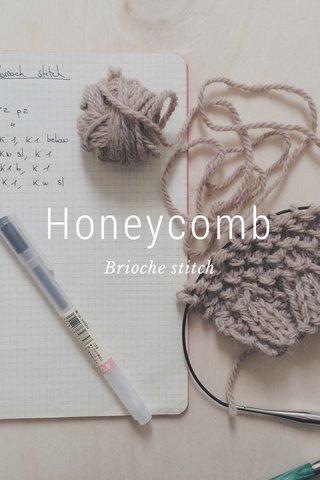 Honeycomb Brioche stitch