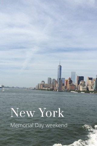 New York Memorial Day weekend