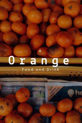 Orange Food and Drink