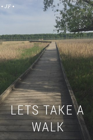LETS TAKE A WALK • JF •