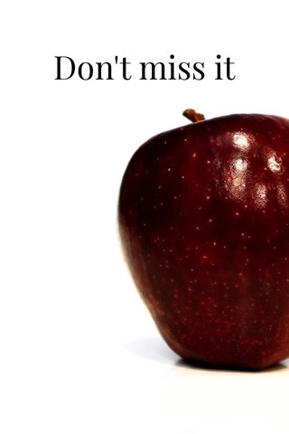 Don't miss it Red Apple