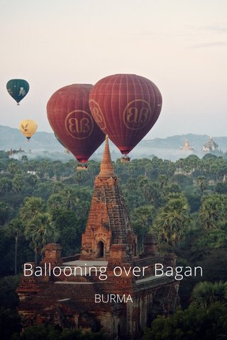 Ballooning over Bagan BURMA