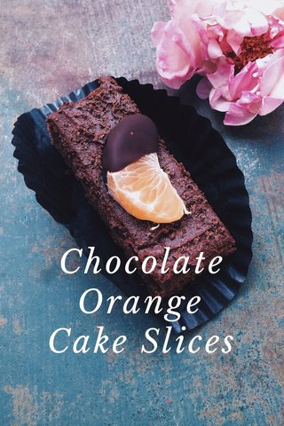 Chocolate Orange Cake Slices