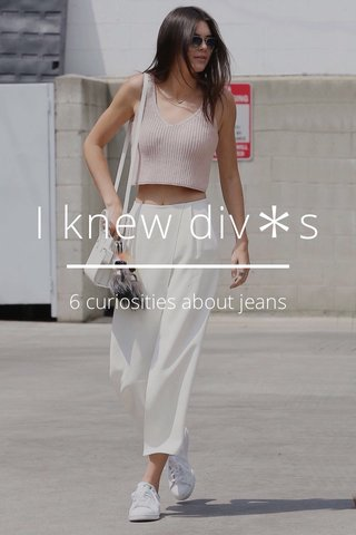 I knew div*s 6 curiosities about jeans