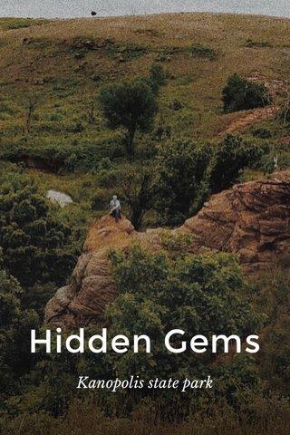 Hidden Gems Kanopolis state park