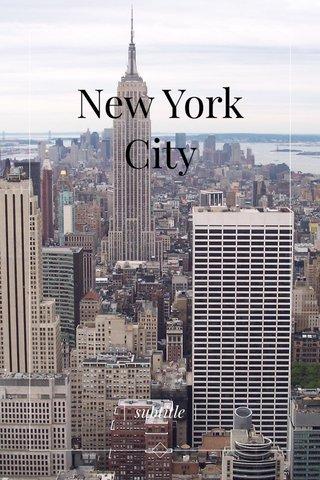 New York City | subtitle |