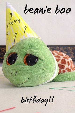beanie boo birthday!!