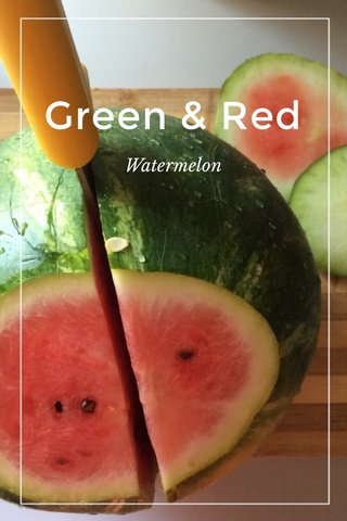 Green & Red Watermelon