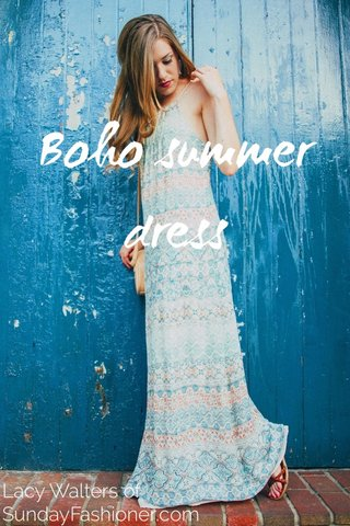 Boho summer dress Lacy Walters of SundayFashioner.com