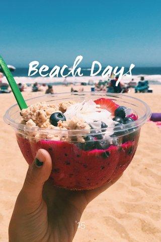 Beach Days '15