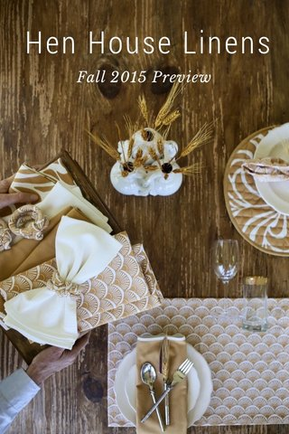 Hen House Linens Fall 2015 Preview