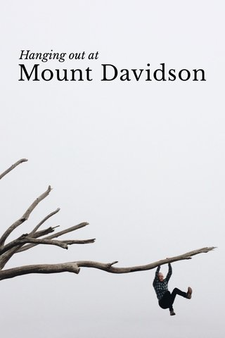 Mount Davidson Hanging out at