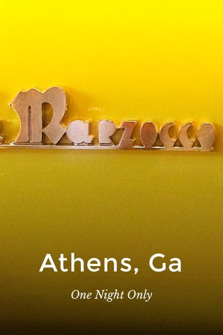 Athens, Ga One Night Only
