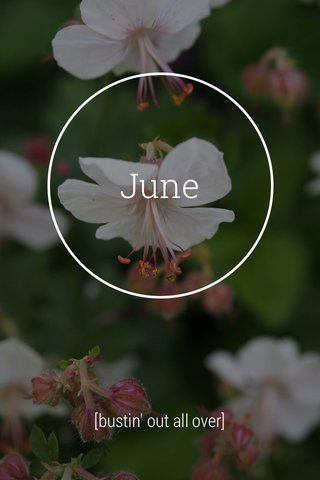 June [bustin' out all over]