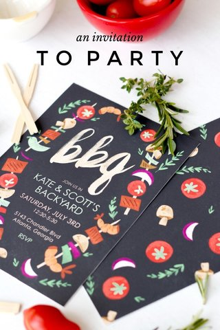 TO PARTY an invitation