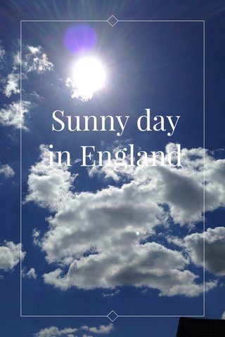 Sunny day in England