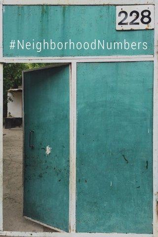#NeighborhoodNumbers