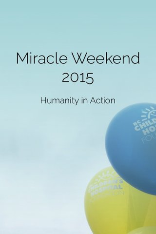 Miracle Weekend 2015 Humanity in Action