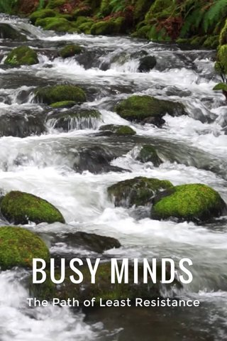 BUSY MINDS The Path of Least Resistance