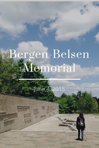 Bergen-Belsen Memorial June 4, 2015