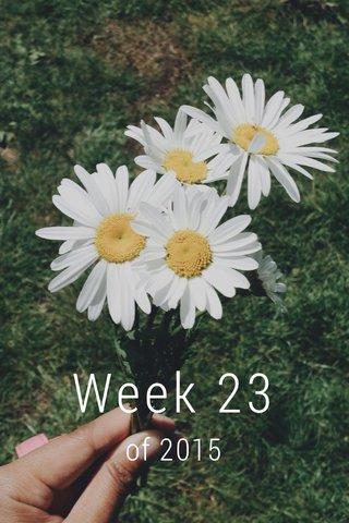 Week 23 of 2015