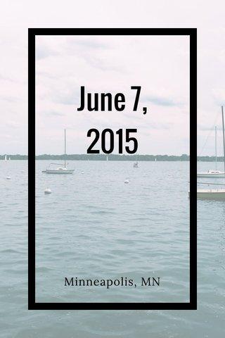 June 7, 2015 Minneapolis, MN