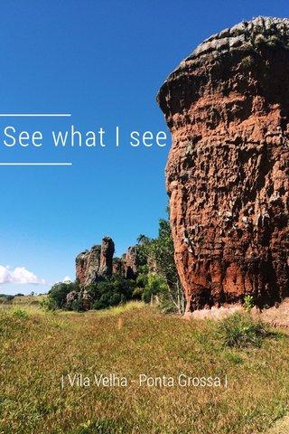 See what I see | Vila Velha - Ponta Grossa |