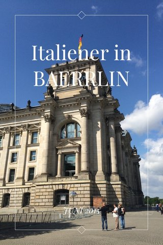 Italiener in BAERRLIN JUNI 2015