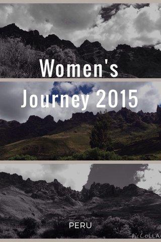 Women's Journey 2015 PERU