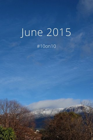 June 2015 #10on10