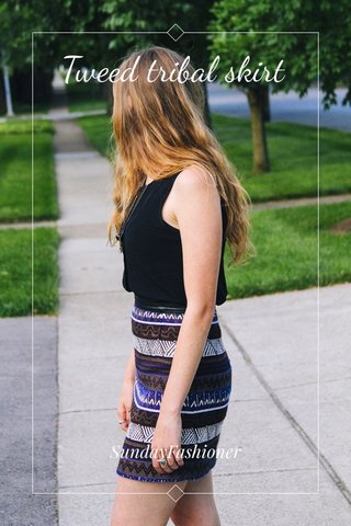 Tweed tribal skirt SundayFashioner
