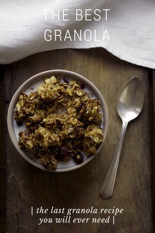 THE BEST GRANOLA | the last granola recipe you will ever need |