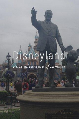 Disneyland First adventure of summer
