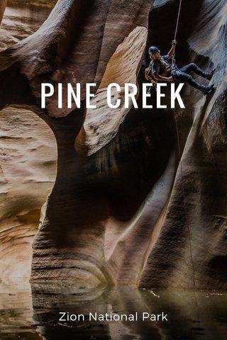 PINE CREEK Zion National Park