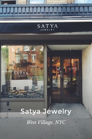 Satya Jewelry West Village, NYC