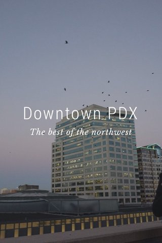 Downtown PDX The best of the northwest