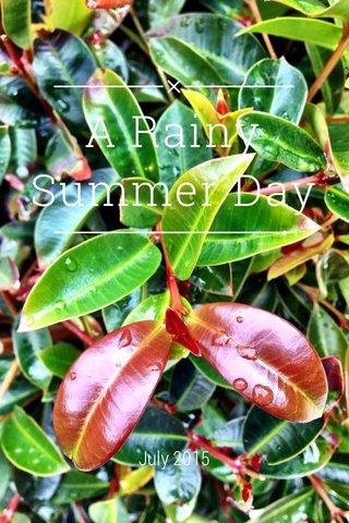 A Rainy Summer Day July 2015