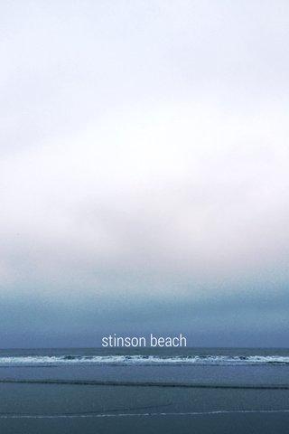 TITLE stinson beach