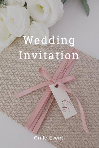 Wedding Invitation Grillo Eventi