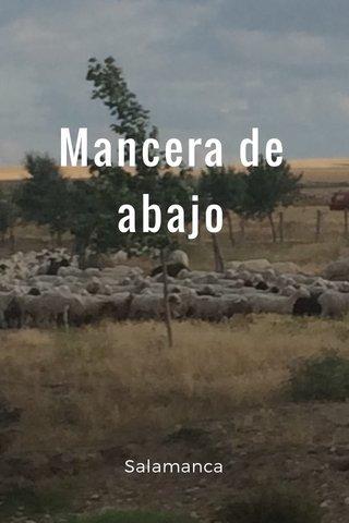 Mancera de abajo Salamanca
