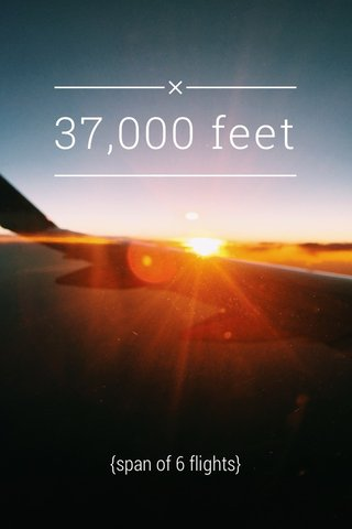 37,000 feet {span of 6 flights}