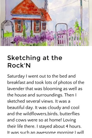 Sketching at the Rock'N