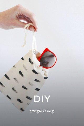 DIY sunglass bag