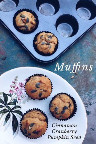 Muffins Cinnamon Cranberry Pumpkin Seed